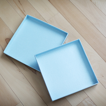 Light Blue Texture Album Box (8.50x8.50x1.00 inches)