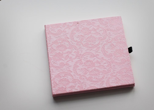 Pink Brocade CD/DVD Case
