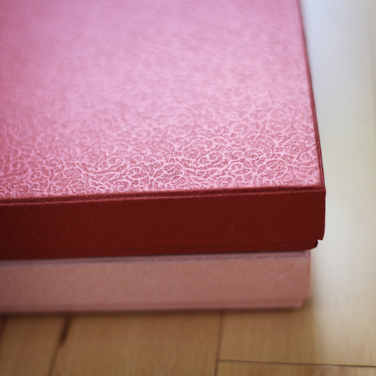 Red Textured Album Box (8.50x8.50x1.00 inches)