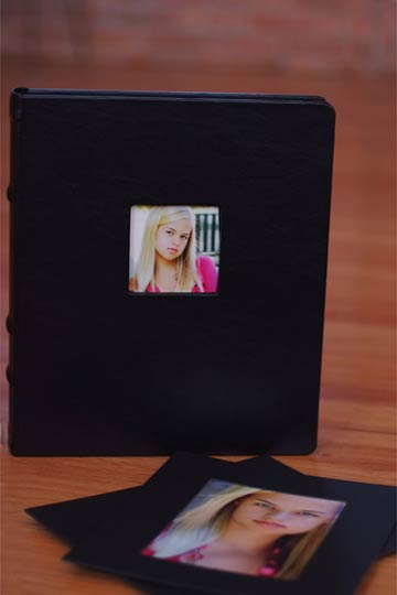 Mattison Image Box in Black Bonded Leather