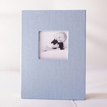 Light Blue Cloth Accordion Album